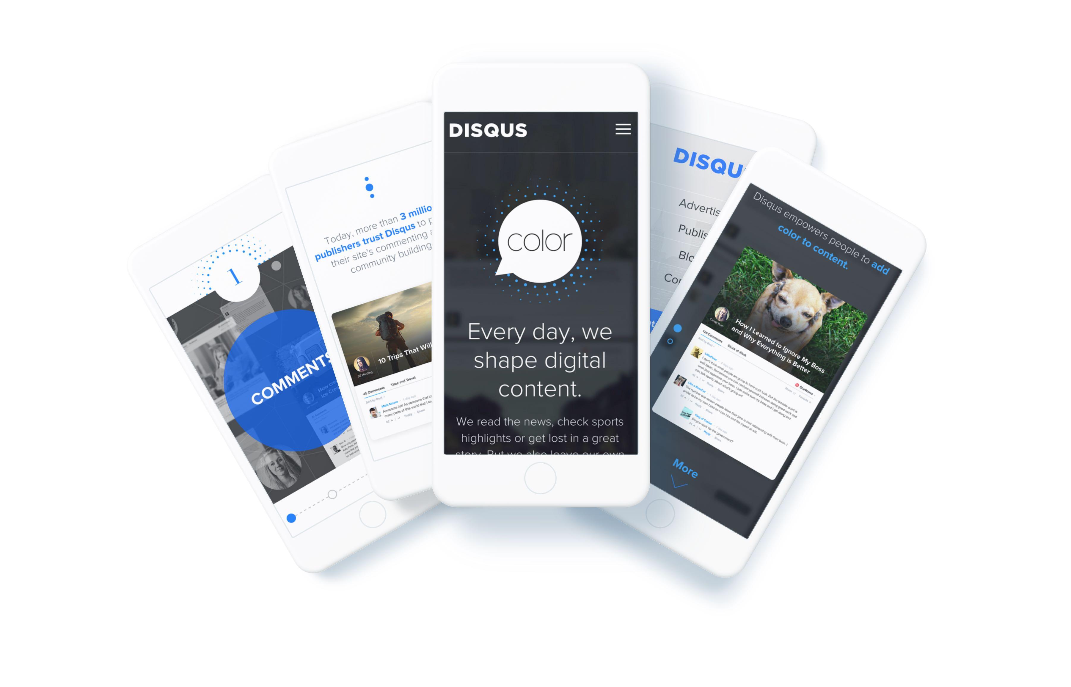 Disqus website shown on mobile devides