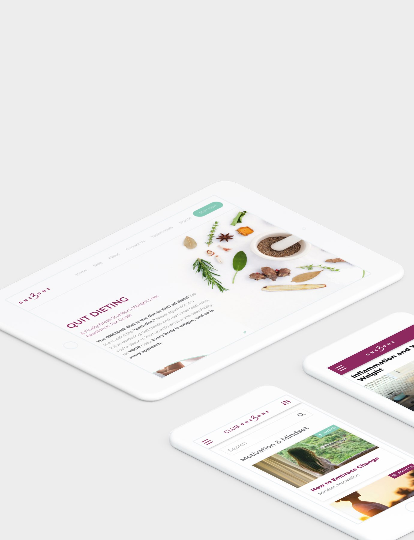 Digital Design and Marketing Agency created 131 by Chalene Johnson Desktop, Tablet, and Mobile App