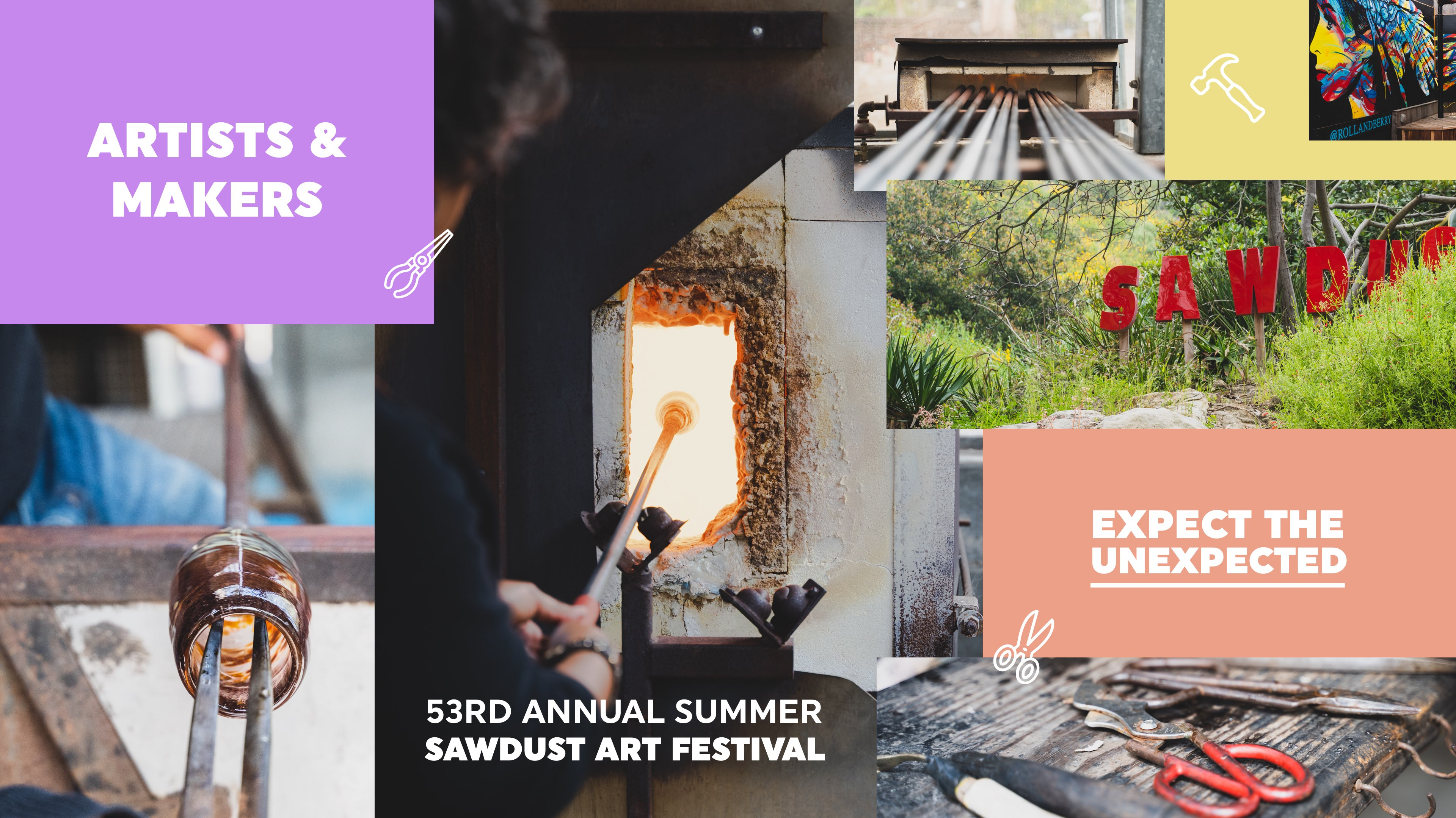 The Sawdust Art Festival in Laguna Beach hires Rareview