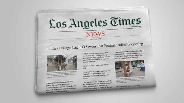LA Times newspaper showing Sawdust Festival article. Rareview's PR and communications team