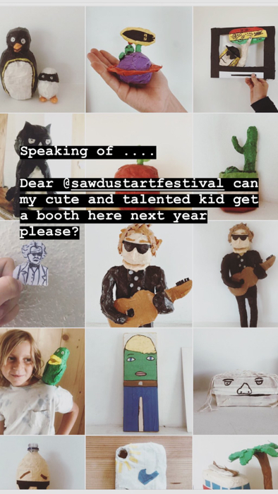 Sawdust Art Festival Instagram story