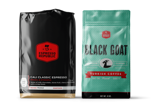 Coffee bags by Espresso Republic