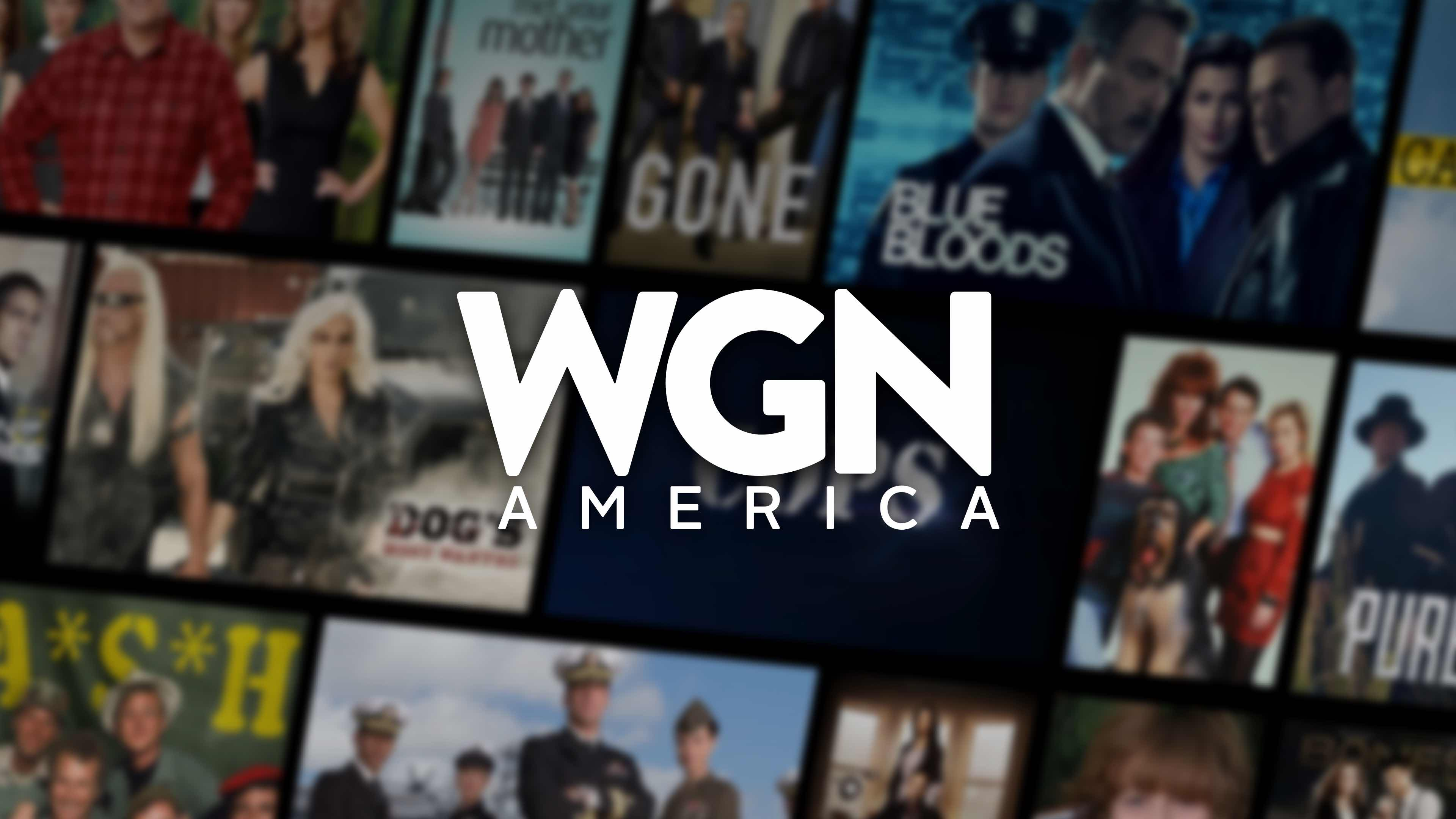 Visual tiles displaying all WGN America top shows