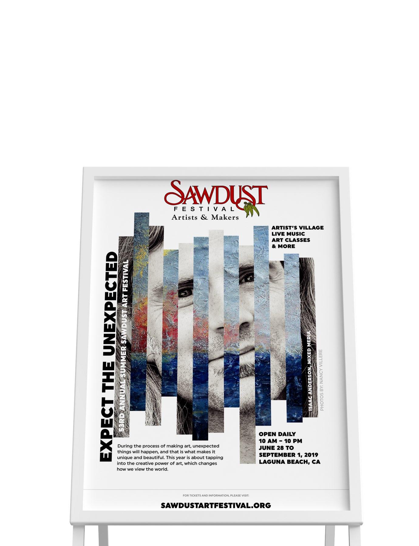 Sawdust Art Festival poster