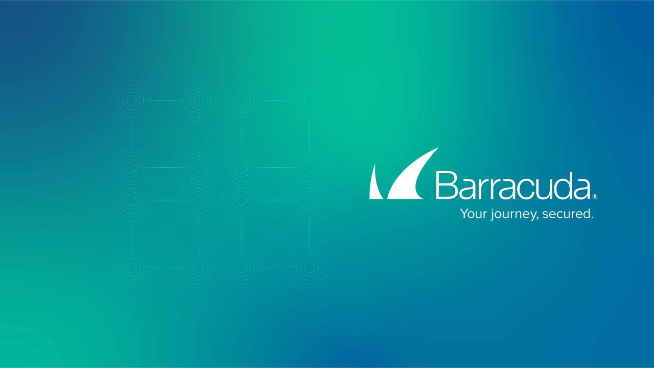 Technology background with Barracuda logo