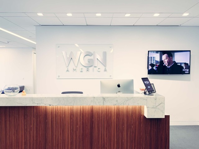 WGN America Los Angeles office lobby