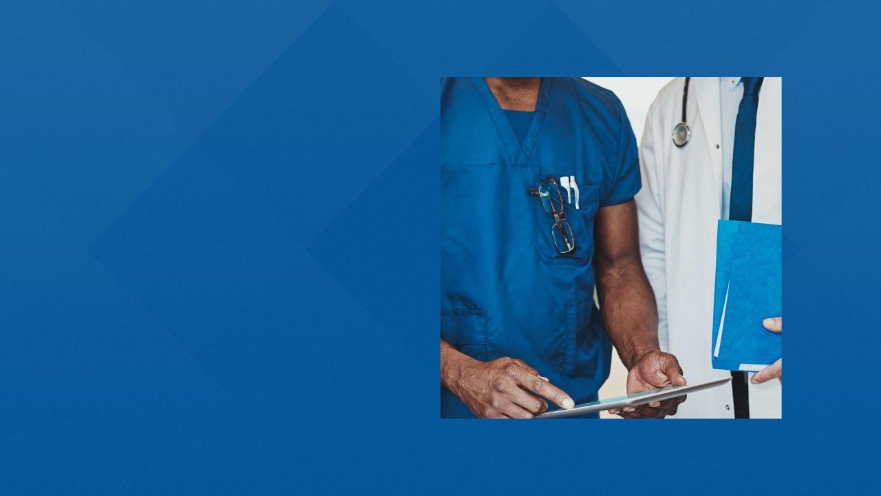 Doctors exchanging information