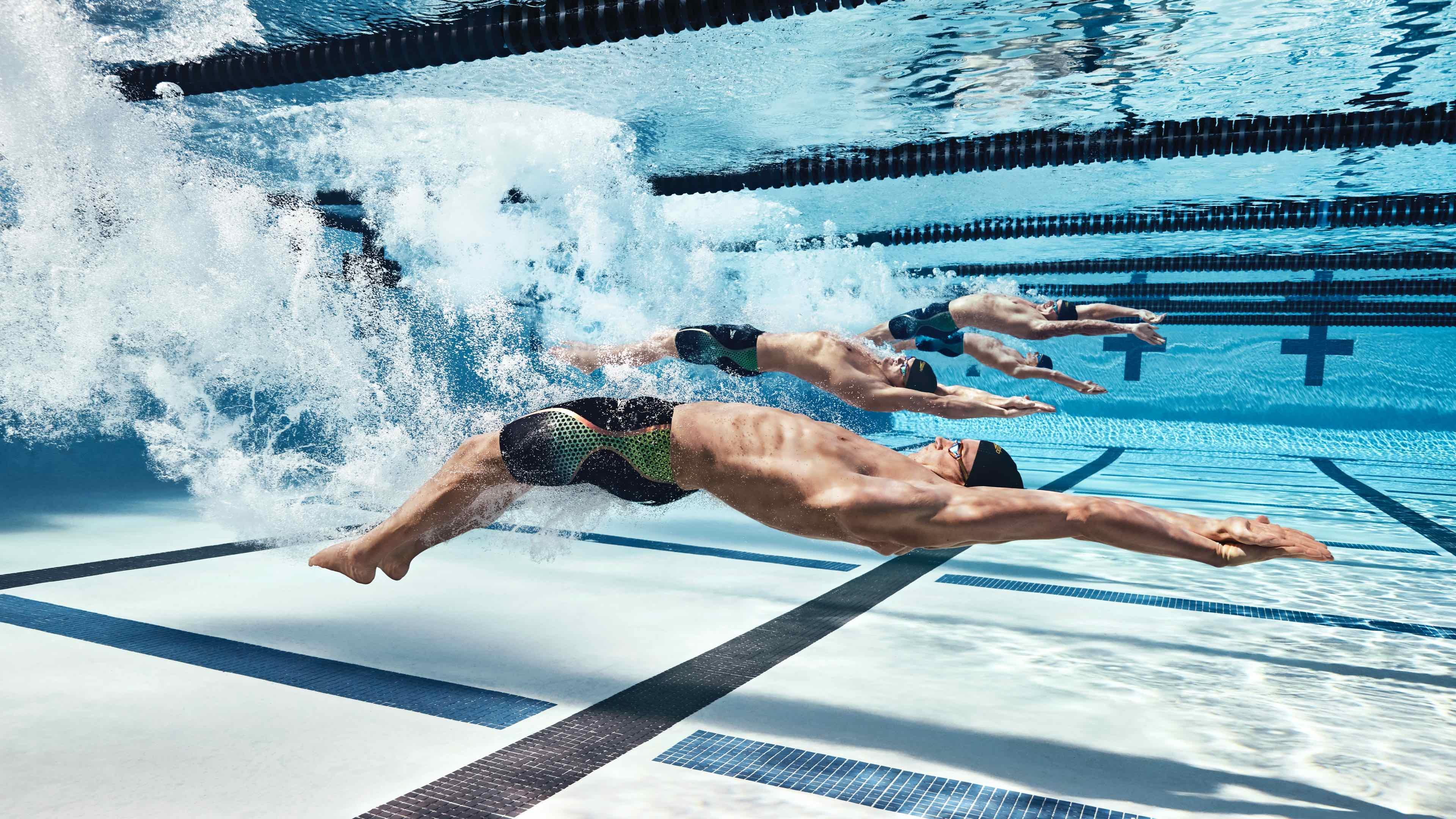Backstroke wearing Speedo brand