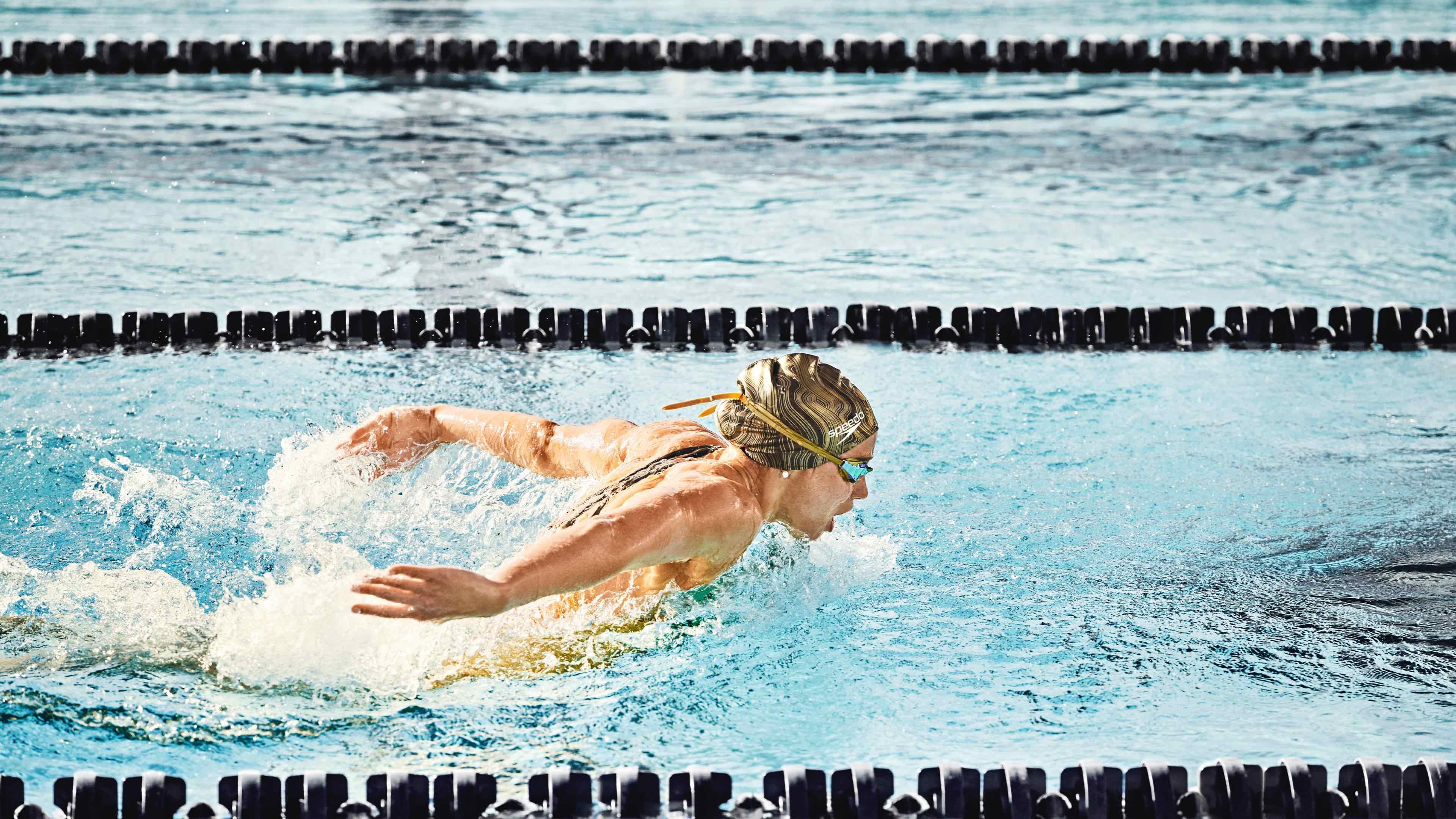 Speedo athlete doing Butterfly stroke