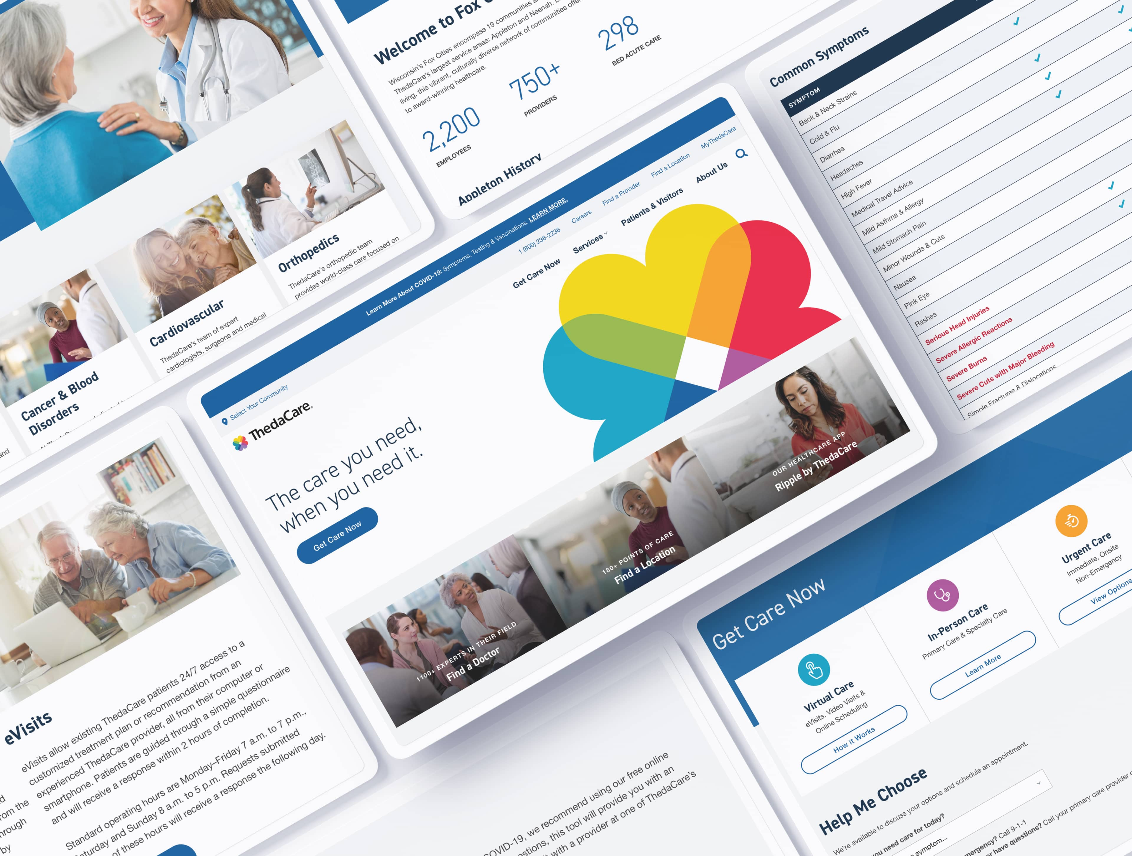 ThedaCare Website UI/UX Design by Rareview